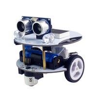 Qbot Programmable Smart Robot Car Kit With Ultrasonic Light Line Tracking Sensor OLED Bluetooth Module Infrared