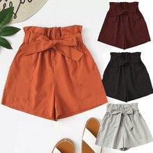 Женская юбка шорты с карманами свободные горячие брюки летние пляжные шорты милые винтажные Boho корейские брюки Spodenki Damskie# sw