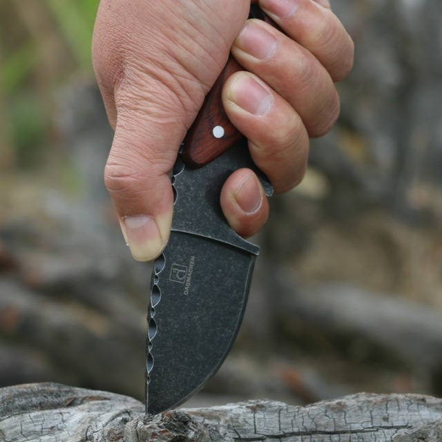 Stone Wash Blade Diving Knife