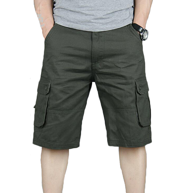 Summer Cargo   Shorts   Men Casual Baggy Multi Pocket Military Zipper Beach   Short   Joggers Overall Male   Short   Trousers Plus Size 46