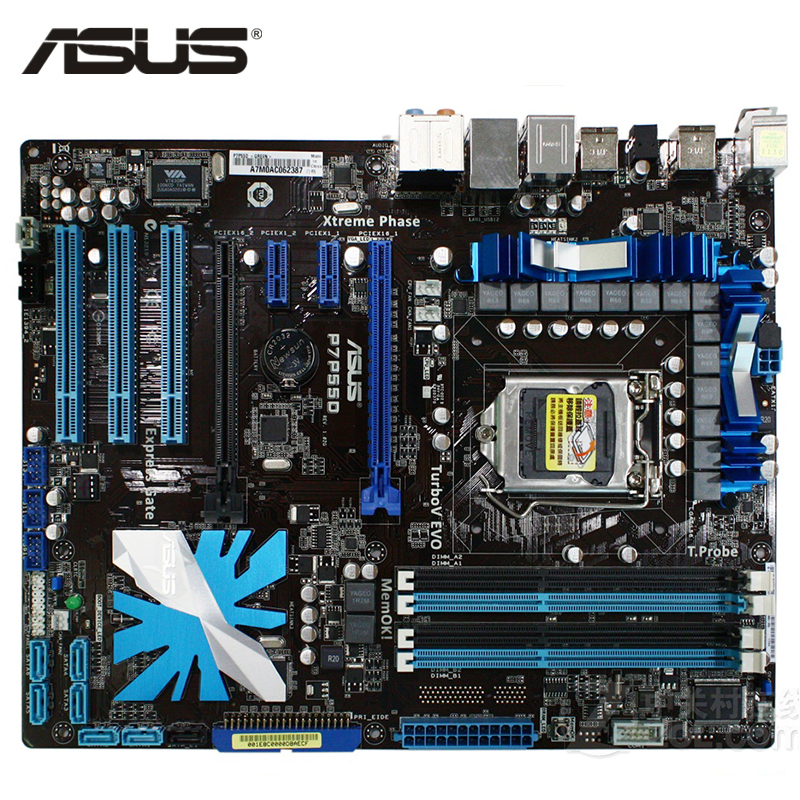 ASUS P7P55D Motherboard LGA 1156 DDR3 16GB For Intel P55 P7P55D Desktop Mainboard Systemboard SATA II PCI-E X16 Used AMI BIOS