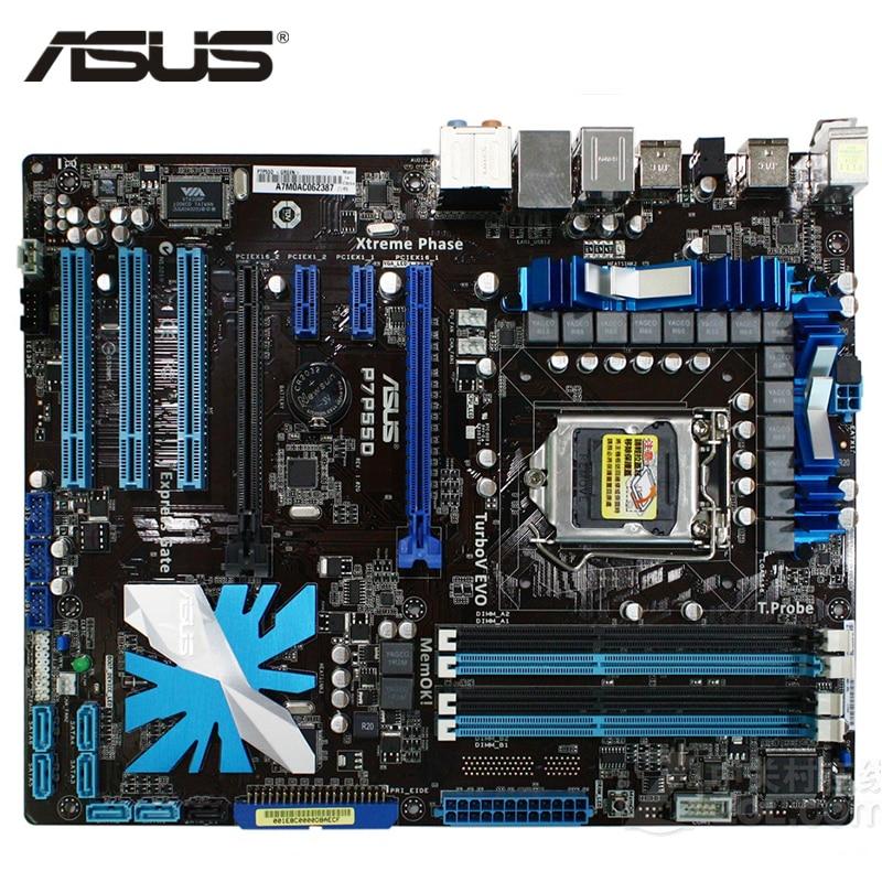ASUS P7P55D placa base LGA 1156 DDR3 16 GB Intel P55 P7P55D placa base de escritorio Systemboard SATA II PCI-E X16 utilizado AMI BIOS