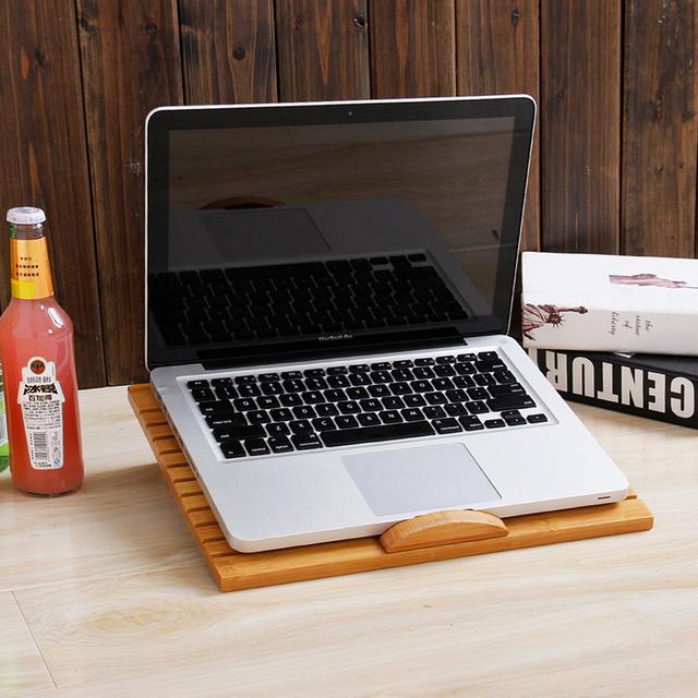 Freya preguiçoso bambu mesa dobrável notebook mesa de madeira tablet comter apoio para a radiação do telefone celular FRETE GRÁTIS