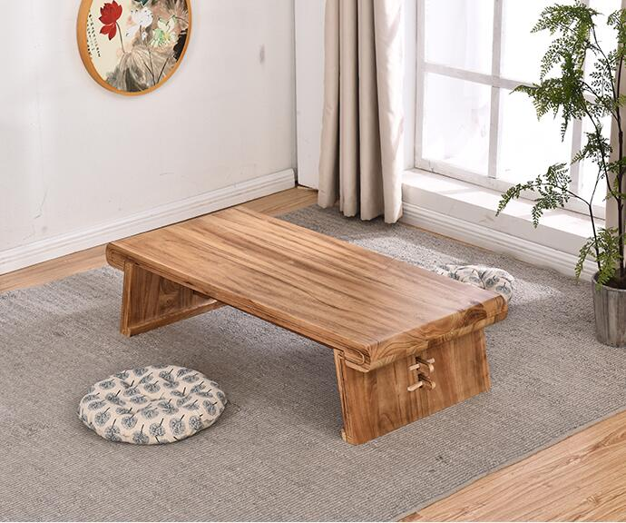 Antique Gongfu Wood Table Rectangle 80X50cm Asian Furniture Wooden Tatami Table For Tea, Coffee In Living Room Chinese Tea Table