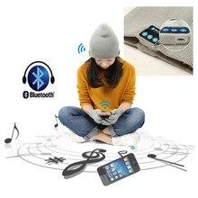 Soft Warm Winter Beanie Hat Cap Auriculares Auriculares Micrófono Altavoz Bluetooth Inalámbrico Inteligente Bluetooth Sombrero Con Guantes