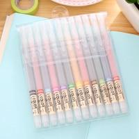 24 Colors Cute Aihao Kawaii Korean Bear Animal Black Ink 0 38mm Gel Pens Writing Supplies