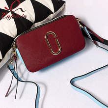 Fashion new design leather color stitching star canvas strap mini purse ladies handbag shoulder bag across body messenger bag