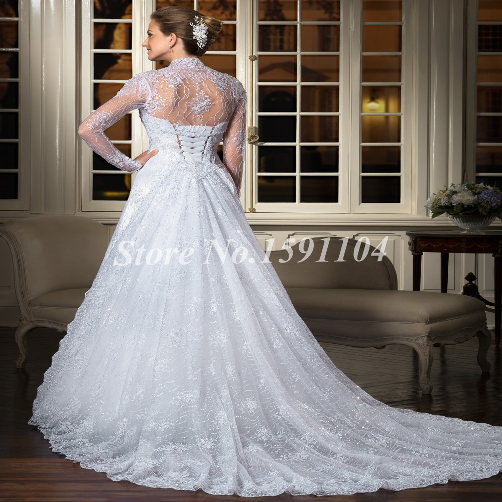 Lace up bridal dress