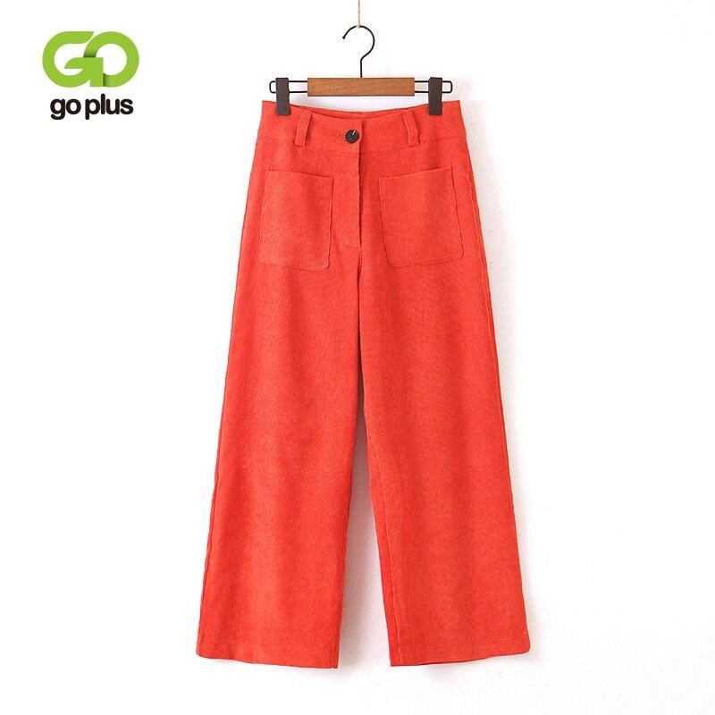 GOPLUS Woman   Wide     Leg     Pants   Casual High Waist Orange   Wide     Leg   Trousers Solid Streetwear Full Length Femme Straight   Pants   C8969