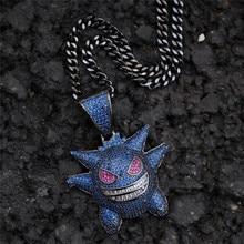 1PC Hip hop wizard zircon pendant Pet Elf Pokemon Personality trend accessories Pendants & Necklaces For Women Men Jewelry
