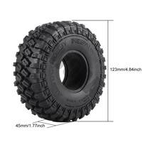 "INJORA 4PCS 123*45MM 1.9"" Rubber Tyre Wheel Tires for 1:10 RC Rock Crawler Axial SCX10 SCX10 II 90046 AXI03007 Traxxas TRX-4 2"