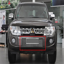 High quality stainless steel Front Grille Around Trim Racing Grills Trim For 2012 2015 Mitsubishi Pajero
