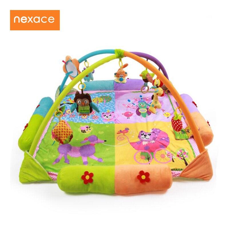 Ребенок тренажерный зал Playmat детей развивающихся активность коврик Размеры 130*130 см большой для близнецов