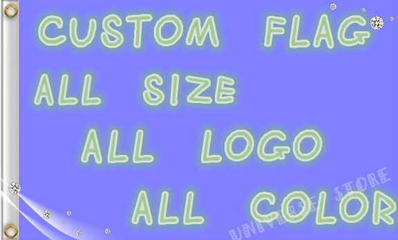 Custom writing company logo flags
