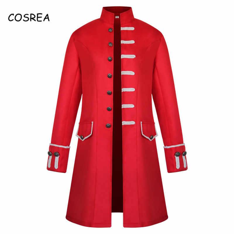 Frete grátis em todo o mundo casaco de cor sólida trench masculino vermelho topos longo fino quente gola uniforme