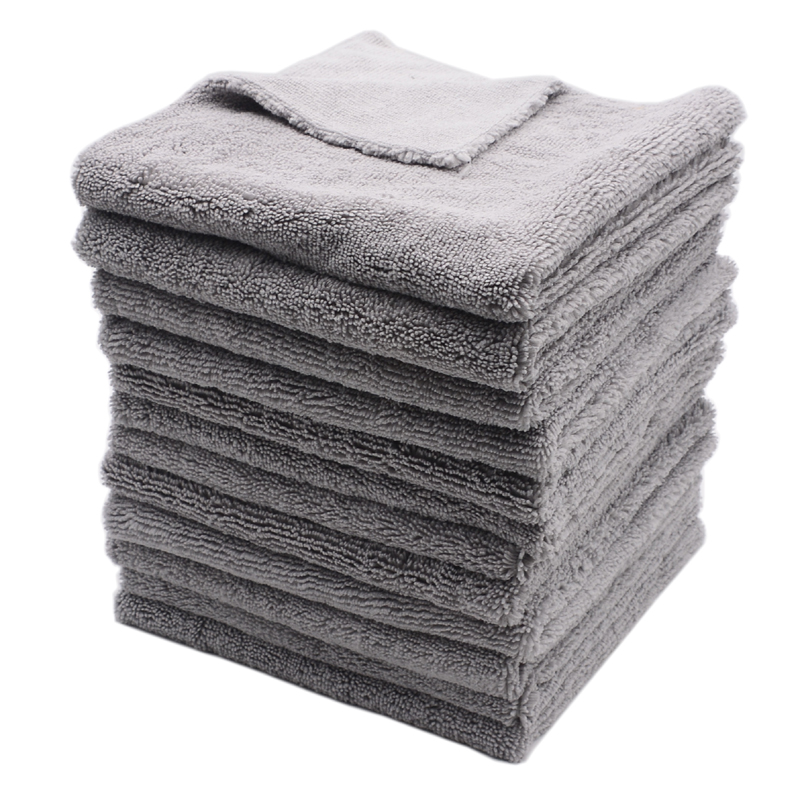 12PCS 400GSM 40x40cm Super Thick Plush Edgeless Microfiber Towels Car Care Cleaning Cloths Microfibre Polishing Detailing Drying