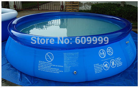 Dia 366 x H76 cm (12ft*30in) Ultralarge Laminated family swimming pool-laminated pool presented with an Electric Inflator bolted joints in laminated composites