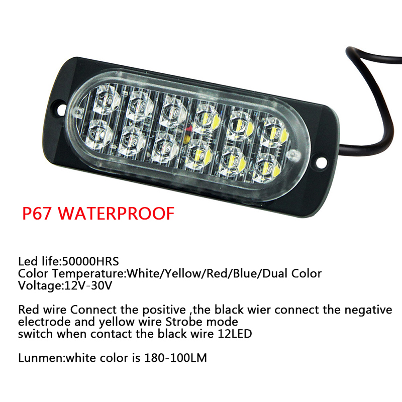 Aliexpress.com : Buy 2x Yellow Amber White Red 12Leds SUV Truck Car ...