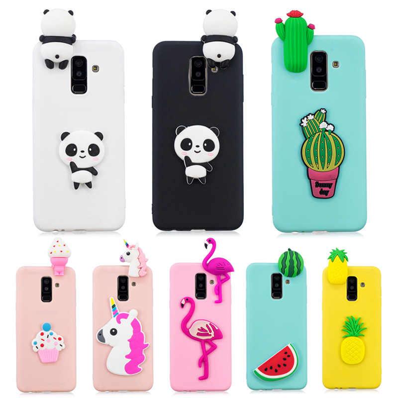 c15610779d 3D Unicorn Panda Cactus Soft Silicon TPU Case For Samsung A6 A8 Plus J4 J6  Plus