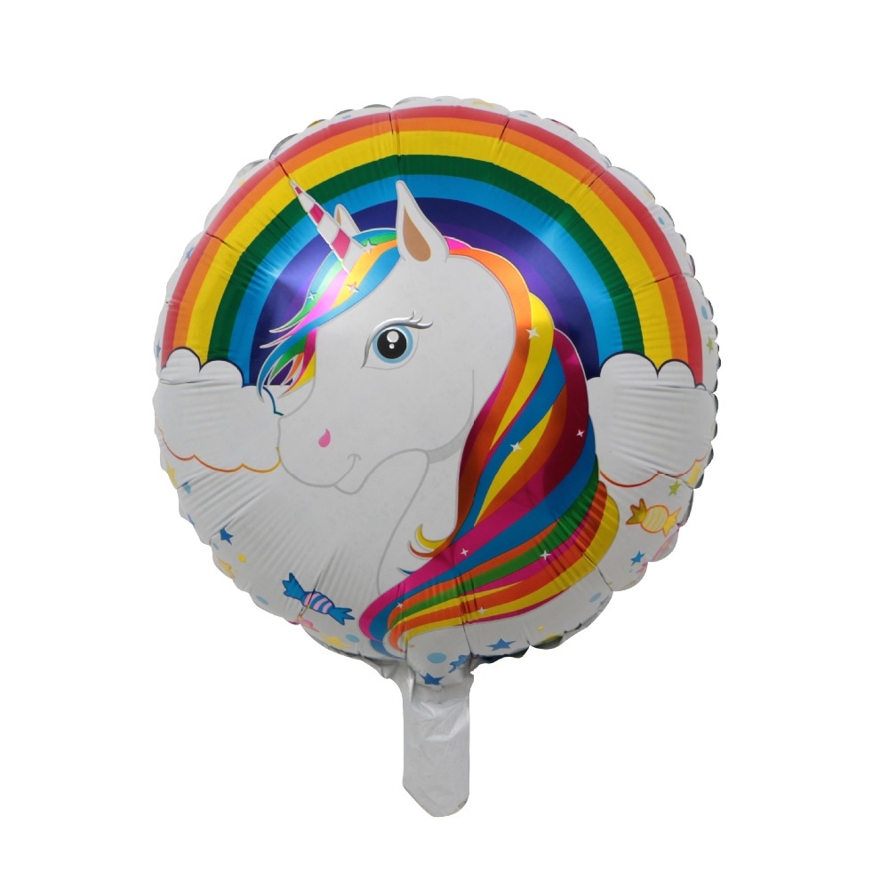 1pcs 18  Cute Unicorn Rainbow Aluminum Balloon Child Birthday Party Wedding Valentine's Day Decor Supplies air balloons globos