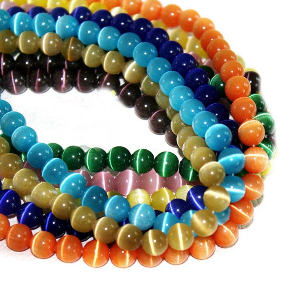 Round Cat Eye Beads