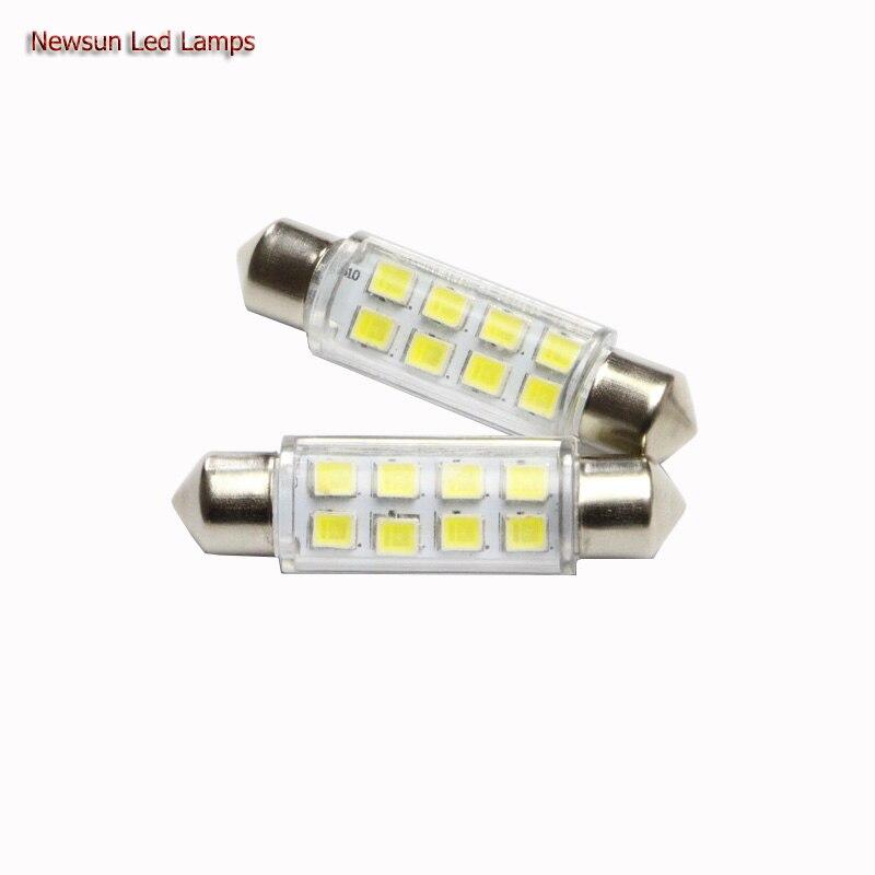 2 шт. 42 мм C5W 12 В 1 Вт Авто светодиодная гирлянда света <font><b>3825</b></font> 8smd чипы света купол номерные знаки для мотоциклов лампы накаливания высокое качество&#8230;