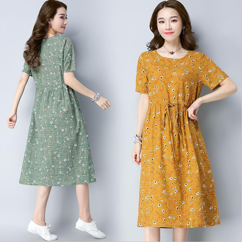 plus size woman fresh cute dress summer short sleeve o