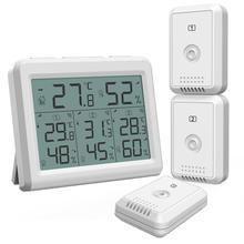 Цифровой термометр гигрометр ORIA с ЖК дисплеем, беспроводной датчик температуры и влажности для использования внутри помещения и на улице, с дистанционным управлением