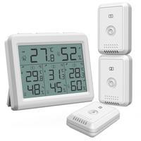 Oria higrômetro termômetro digital lcd termômetro ao ar livre indoor sem fio sensor de temperatura monitor umidade controle remoto Medidores de temperatura     -