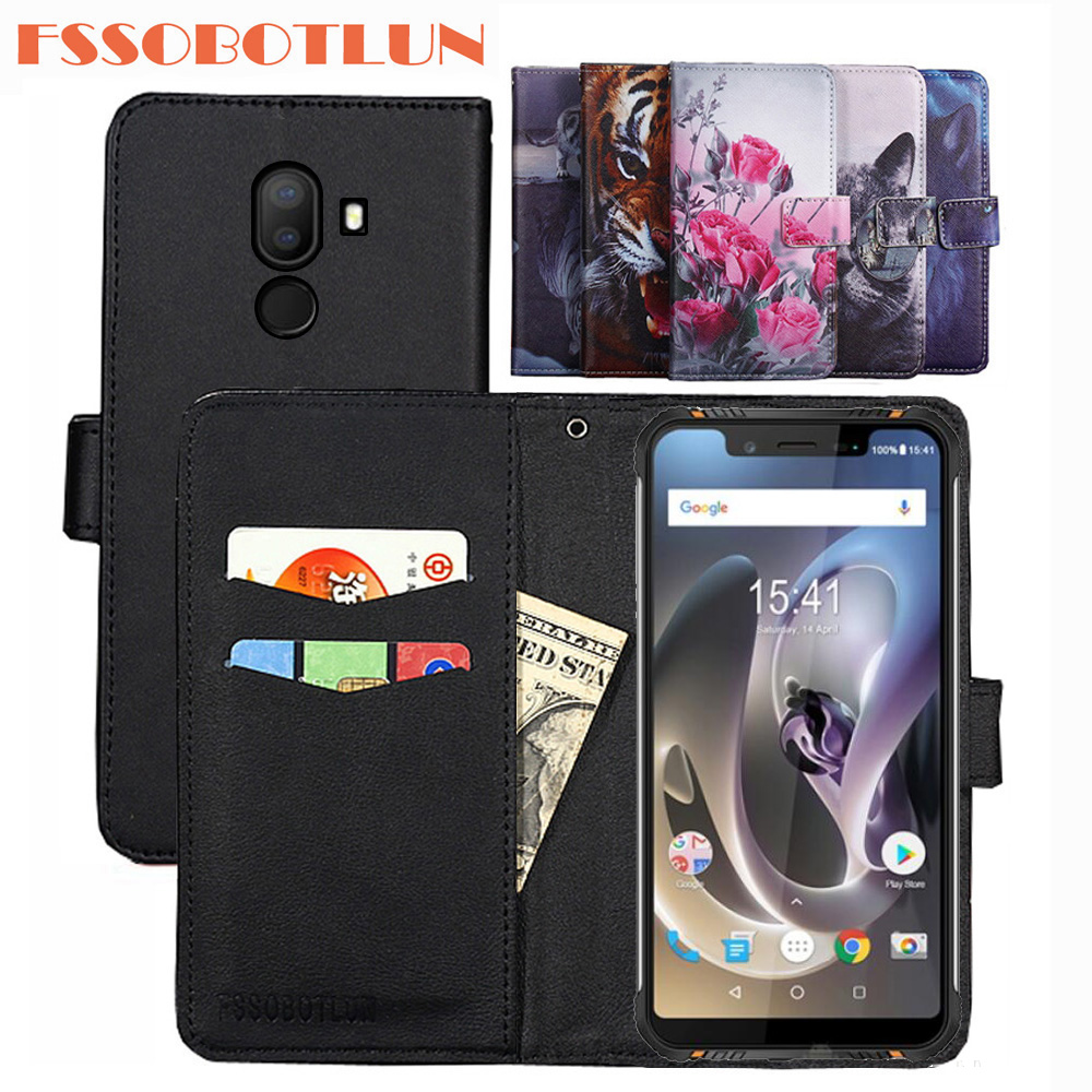 FSSOBOTLUN 9 Colors For HomTom Zoji Z33 Case PU Leather Retro Flip Cover Shell Magnetic Fashion Wallet Cases Kickstand Strap image