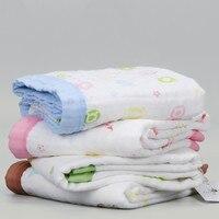 Gasas towel banheiro bonito miúdos dos desenhos animados de algodão do bebê colcha toalha hidrofílico panos toalhas de bebê impressão criança 50a032