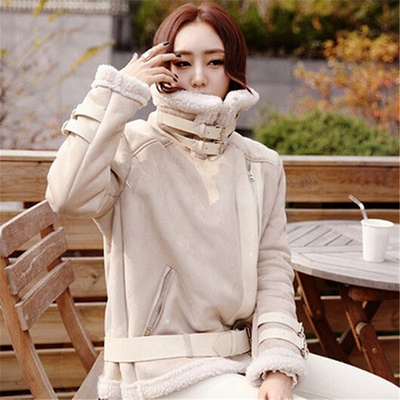 New Winter Jacket Women Casual Women's Clothing Wadded Padded Suede Jackets Coat Female Warm Overcoat Cotton Jacket Parkas C1242 new wadded winter jacket women cotton long coat with hood pompom ball fashion padded warm hooded parkas casual ladies overcoat