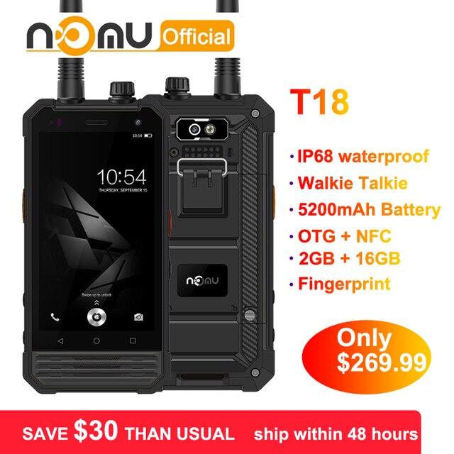 "Nomu T18 Walkie Talkie Waterproof Shockproof IP68 Mobile Phone 4.7"" MTK6737T quad core Android 7.0 2GB+16GB 5200mAh Smartphone"