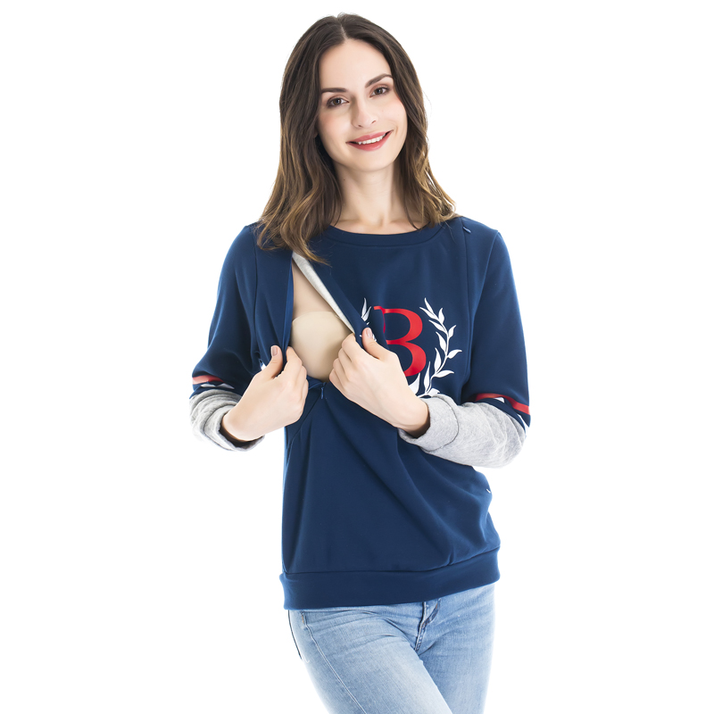 0d472e6ae04 Maternity Nursing top Fashion Warming Long Sleeve Maternity Clothes Breast  feeding Tops T shirt for Pregnant Women-in Tees from Mother & Kids on ...