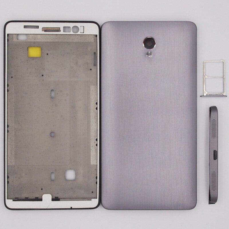 imágenes para 100% Nuevo LCD Marco Frontal tapa de La Batería Cubierta Trasera De Plástico Inferior Caso de Vivienda Para Lenovo S860 cubierta de la Bandeja de la Tarjeta SIM Y Sin Botones