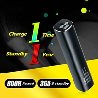 Yescool E180 Professional Digital Voice Recorder 32GB Denoise HD Long Distance Stereo Compact Metal Mini Portable
