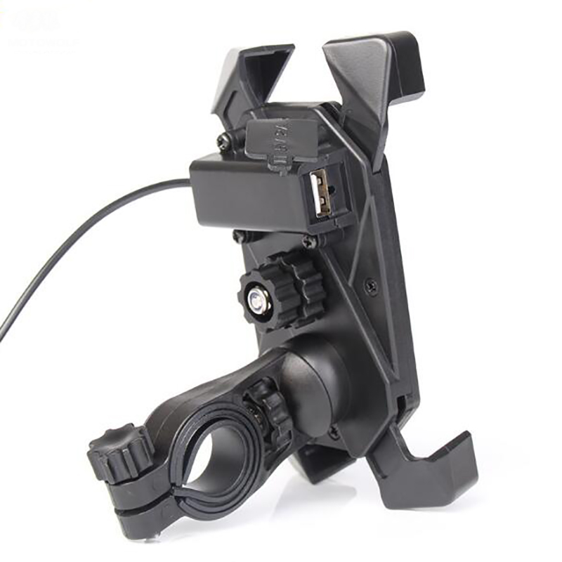 Motorcycle Bike Handlebar Mobile Phone GPS Mount Holder Retractable Grip Phone Holder Motorcycle Scooter USB Charger  mobile phone