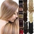 """2015 Hot Sale Lady Women 23"""" Clip In Full Head 8 PCS 18 Clips aplique de cabelo braiding hair Extension Good Quality"""