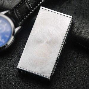Image 5 - USB Зажигалка аксессуары для электронных сигарет Зажигалка импульсная дуговая Зажигалка Ветрозащитная металлическая плазменная Зажигалка для сигар