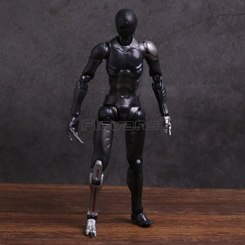 1000 Toys TOA Heavy Industries Synthetic Human Black Color Ver. 1/12 Scale Action Figure Collectible Model Toy image