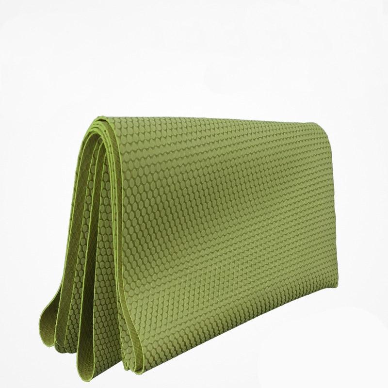 Caoutchouc naturel 1.5mm voyage ultra-mince pliant portable pad non-slip yoga tapis tapis yoga fitness tapis esterilla yoga