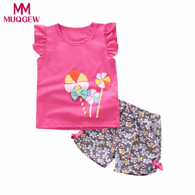 72f717cbbe1 Detail Feedback Questions about MUQGEW baby Toddler Kids Baby Girl Lolly T  Shirt Tops+Floral Shorts Pants Outfit Clothes Set pajamas for girls top  ropa ...