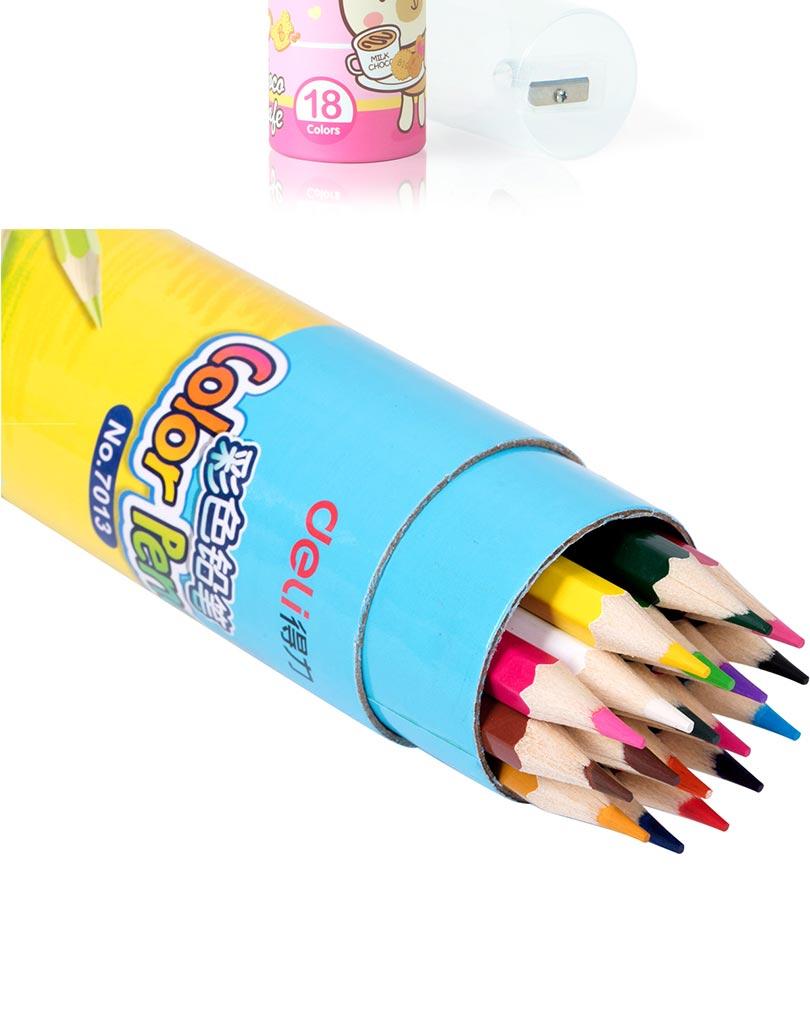 Deli painting color pencil 12/18 colors High quality drawing painting colors pencil artist supplies sketch Color Pencil 9