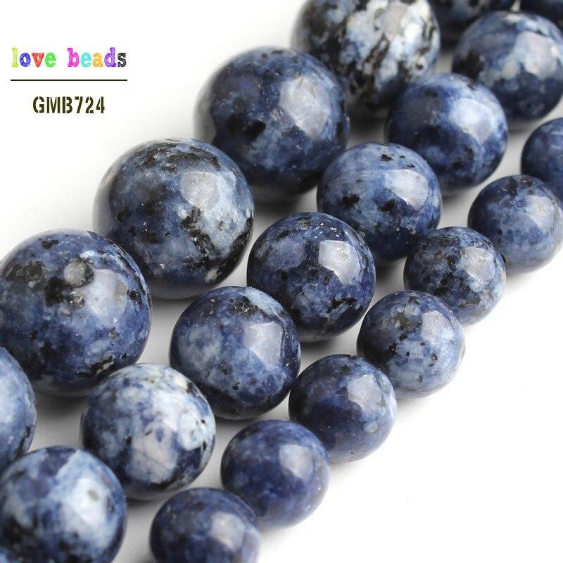 À faire soi-même 6//8//10mm Lac naturel bleu Lapis Lazuli Pierre Perles Rondes FIT YOGA Bracelet