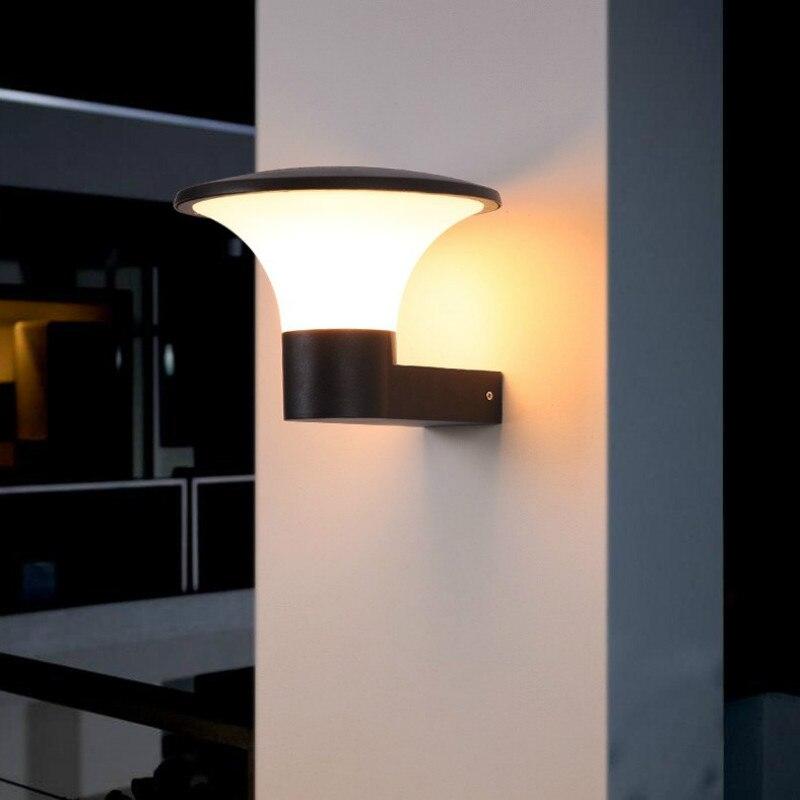Nuovo Stile illuminazione esterna moderna led lampada da parete esterna impermeabile di alluminio terrazza illuminazione IP54 muro scone lumiere exterieur