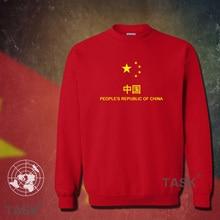 China PRC hoodies men sweatshirt sweat suit hip hop streetwear socceres jerseyes footballer tracksuit nation Chinese flag CN