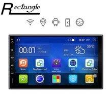 7 Дюймов 2 Автомобиля Гама-Плеер GPS Навигации WiFi Android 5.1.1 Quad Core 1024*600 Автомобиль Мультимедиа Плеер Для Honda Форд Peugeot