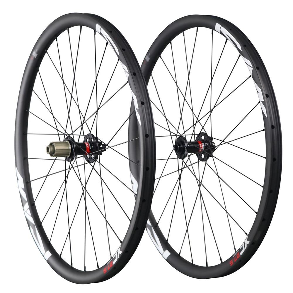 Hot sale 27.5er mtb carbon wheels China 650B mountain bike wheelset 30mm clincher tubeless ready 1526g 32H UD matt 27.5ER 30C