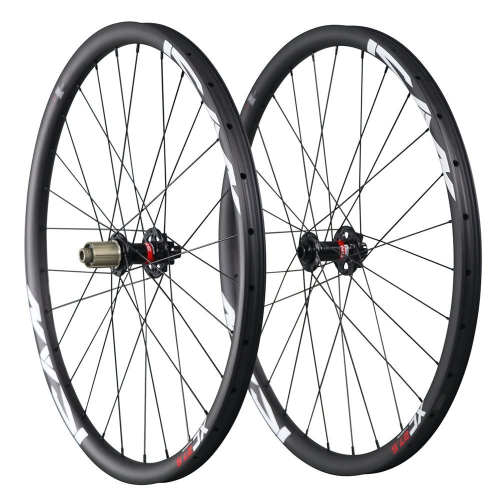 Hot sale 27.5er mtb carbon wheels China 650B mountain bike wheelset 30mm clincher tubeless ready 1526g 32H UD matt 27.5ER-30C factory direct mountain bike clincher wheelset 29 inch 27 5er carbon mtb wheels 29er 650b carbon mtb wheels tubeless rims