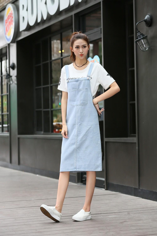 2191458e33 2019 nueva moda Denim vestido de mezclilla de verano suelto Casual ...